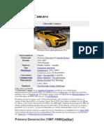 Historia del Chevrolet Camaro