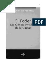 El Poder. Los Genios Invisibles de La Ciudad  Guglielmo Ferrero