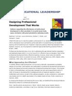 designing professional development that works