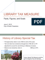 South Pasadena - Library Tax Measure