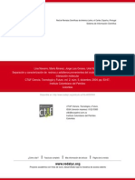 Separación y Caracterización de Resinas