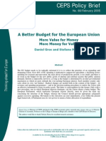 A Better Budget for the European Union Gros&Micossi (2005)
