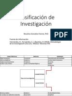 clasificacion de investigacion