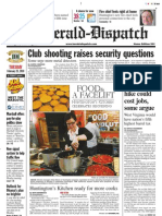 Front page — The Herald-Dispatch, Feb. 23, 2009