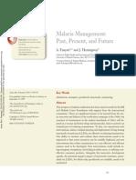 Malaria Management Past, Present, And Future