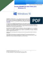 Las Motherboards GIGABYTE Estan Listas Para Windows 10
