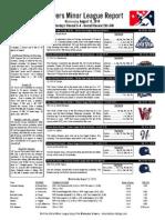 Minor League Report 15.08.12