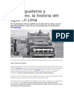 Entre Aguateros y Camiones La Historia Del Agua en Lima