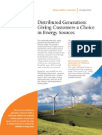 Smart Grid Operational Services - Distributed Generation Fact Sheet