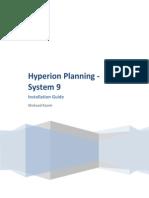 Hyperion Planning - Installation