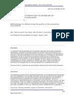 Metodologia para determinar la calidad de los instrumentos de medición