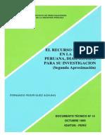 El Recurso Del Suelo en La Amazonía Peruana