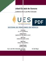 Ensayo, Sistema de Pensiones en Mexico