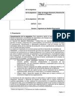 GFC-1404 Taller de Imagen Personal y Directiva de Calidad en El Empleo