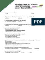 Examen Boom Biblico en Blanco REPUESTA