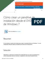 Cómo Crear Un Pendrive de Instalación Desde El DVD de Windows 7