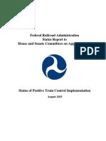 2015 08 Federal Railroad Administration Positive Train Control Status Report