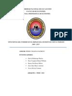 """""""Influencia Del Turismo en El Empleo Del Distrito de Chivay Periodo 2009 - 2013"""""""