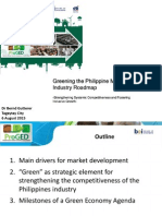 Greening the Philippine Manufacturing Industry Roadmap Dr. Bernd Gutterer GIZ ProGED 8.6.2015