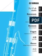 Bassoon YFG-812 Yamaha User´s Guide