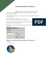 Mostrar La Cuenta de Administrador en El Inicio de Windows XP