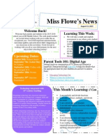Miss Flowe's Newsletter