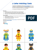 Superhero Upper and Lower Case Letter Learning Game From B Inspired Mama