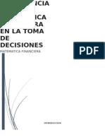 Importancia de La Matematica Financiera en Las Decisiones Gerenciales