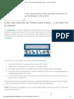 Tecnotips_ Crear Una Colección de Twitter Paso a Paso..