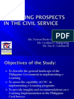 E-learning Prospects in the Civil Service