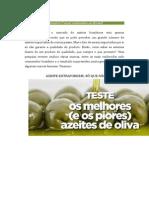 Bons e Maus Azeites Comercializados No Brasil