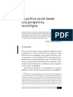 Barbar Solano La Política Social Desde Una Perspectiva Sociológica