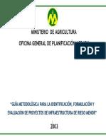 Guia Metodologica de Proyectos de Riego Menor