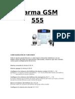 Instrucciones Alarma GSM 555