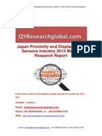 Japan Proximity and Displacement Sensors Industry 2015 Market Research Report