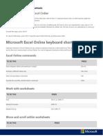 Excel Online Keyboard Shortcuts