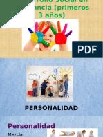 Desarrollo Social en La Infancia (Primeros 3 Años)