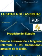 La Batalla de Las Biblias Final Para David