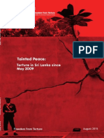 Tainted Peace Torture in Sri Lanka since May 2009