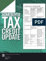 Homebuyer Tax Credit — Revised November 2009