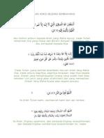 Bacaan Wirid Selepas Sembahyang