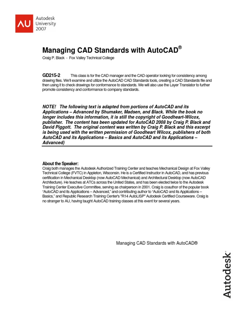 AUGI - Managing CAD Standards With AutoCAD | Auto Cad | Autodesk