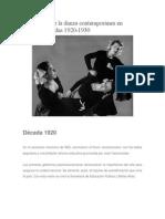 Cronología de La Danza Contemporánea en México