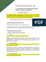 Proyecto Sectyp 2013-2015 - Informe de Avance