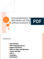 SynapseIndia Sharing Reviews on Web Applications With PHP