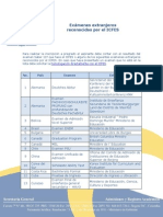 Exámenes Extranjeros Reconocidos Por El ICFES