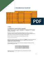 Medidas de Tendencia Central