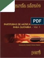 Raul Garcia Zarate (Arreglo) - Partitura de Músicas Andinas Vol. 1 (Trans. Rolando Carrasco)