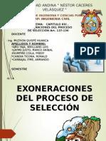 Exoneraciones proceso de selccion IX B.ppt