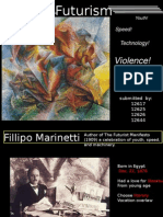 Futurism- F.T. Marinetti